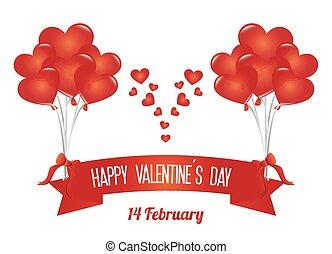 dag, vektor, illustration., valentinkort