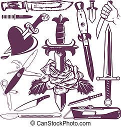 daga, cuchillo, colección