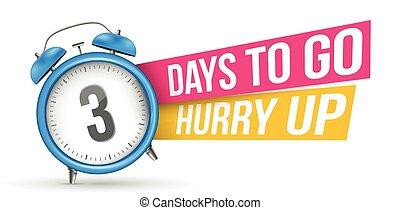 dagar, skapande, senast, vektor, brådska, bakgrund, baner, alarm, slogan, erbjudande, gå, design, nedräkning, minut, illustration, timme, vecka, -, clock., template., försäljning, emblem, abstrakt, uppe, element, begrepp, promo