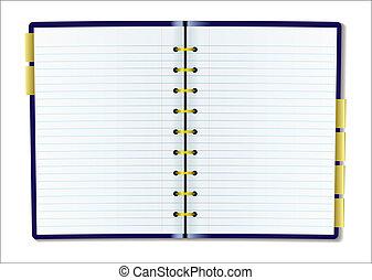 dagboek, pagina, leeg