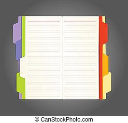 dagbok, öppnat, bakgrund