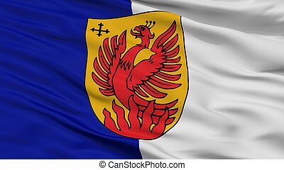 Dagda City Flag, Latvia, Closeup View - Dagda City Flag,...