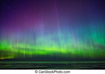 dageraad, op, zee, borealis, mooi
