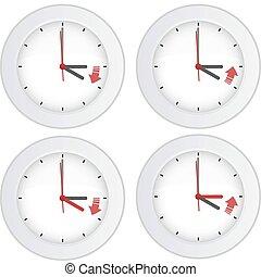 daglicht, concept, besparing, tijd