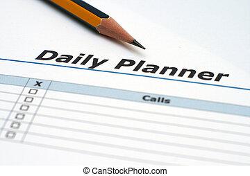 daglig planlægger
