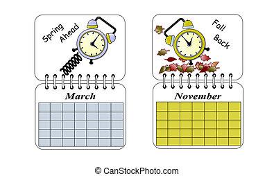 dagsljus, besparingar, tid