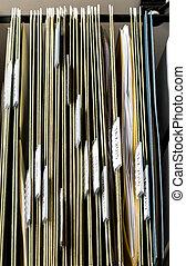 daheim, ablegenden system, für, offiziell, dokumente, organisiert, in, ordner