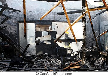 daheim, ausgebrannt hat