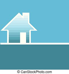 daheim, concept., real estate, vektor