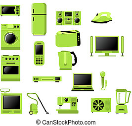 daheim, elektronisch, verwandt, apparat