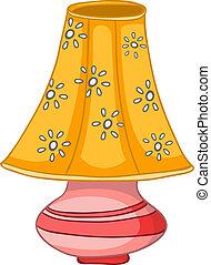 daheim, lampe, karikatur