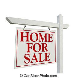 daheim, verkauf, immobilien- zeichen