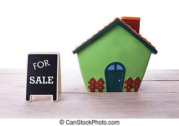 daheim, verkauf, immobilien- zeichen, und, schöne , neu , house.