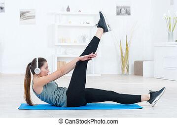 daheim, workout, routine