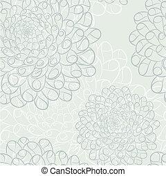 Dahlia seamless pattern