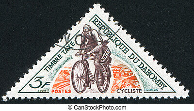 Mailman on bicycle