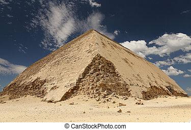 dahshur, ピラミッド, エジプト, カイロ, necropolis, 曲がった