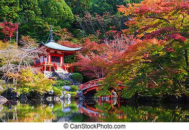 daigoji, otoño, templo, kyoto, japón