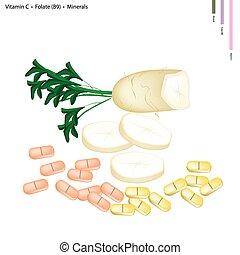 Daikon Radish with Vitamin C, B9 and Minerals - Healthcare...