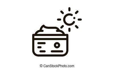 Daily Cream Icon Animation. black Daily Cream animated icon on white background