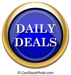 Daily deals icon - Shiny glossy icon with white design on...