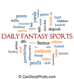 Daily Fantasy Sports Word Cloud Concept