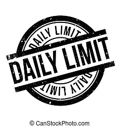 Daily Limit rubber stamp