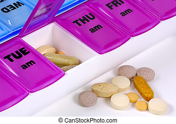 Daily Medication - Pill Case and Pills.
