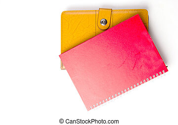 Daily note book isolated with white background