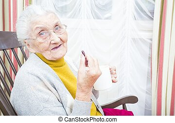 Daily pills for elderly people