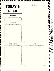Daily Planner Template Ready for Print with Space for To-Do List, Schedule, Activities, Appointments