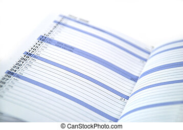 daily planner used to keep appointments and reminders