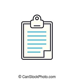 Daily Report Vector Thin Line Stroke Icon Outline Illustration Linear Sign