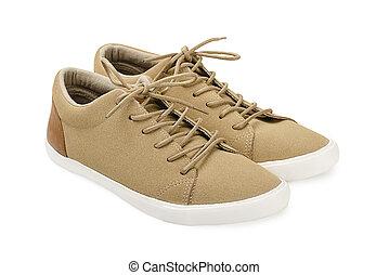 daim, chaussures