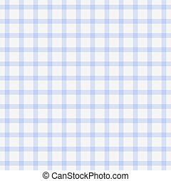 Dainty Baby Blue Plaid - Seamless white and pale blue plaid