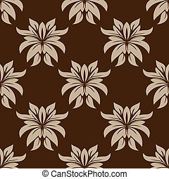 Dainty brown floral seamless pattern