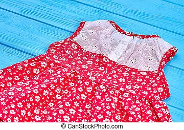 Dainty summer baby-girl dress.