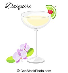 Daiquiri cocktail  isolated on white