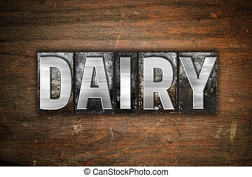 Dairy Concept Metal Letterpress Type