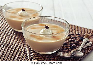 Dairy dessert with coffee flavor - Dairy dessert with coffe ...