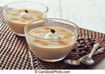 Dairy dessert with coffee flavor - Dairy dessert with coffe...