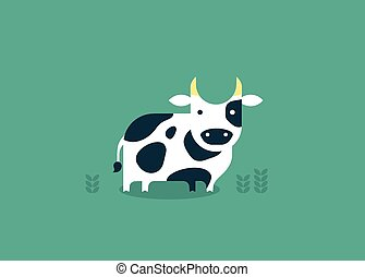 vector cow icon