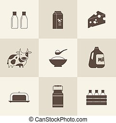 vector milk icon