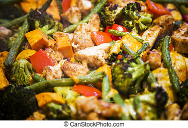 anti-inflammatory pan with chicken and vegetables - dairy ...