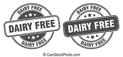 dairy free stamp. dairy free label. round grunge sign