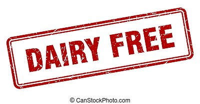 dairy free stamp. square grunge sign on white background