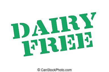 Dairy Free typographic stamp
