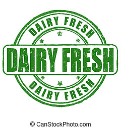 Dairy fresh stamp