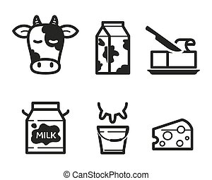 Dairy icons