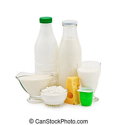 dairy product isolated on white
